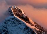 Golden Light on Liberty Mountain Cascade Mountains, Washington 315a