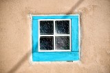 Teal color window, Old Town Albuquerque, New Mexico 262