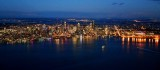 Downtown Seattle, Elliott Bay, WSFerry, Lake Washington, Bellevue, and Cascade Mountains, Washington 1059
