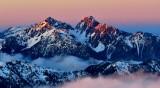 Mount Constance at sunset, Olympic Mountains, Washington 699