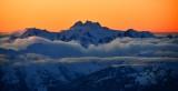 Orange Sky over Mount Olympus, Olympic National Park, Olympics Mountain, Washington 830