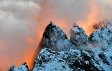 Burning sunset on Garfield Mountain in Cascade Mountains, Washington 710