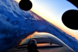 Sunset over Olympic Mountains in T-34A Beech Mentor,  Washington 979