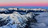 Sunset over Olympic Mountains, Washington 855