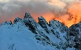 Burning sunset on Garfield Mountain in Cascade Mountains, Washington 705