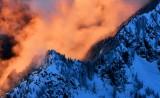 Burning sunset on Garfield Mountain in Cascade Mountains, Washington 764a