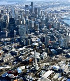 Space Needle, Pacific Science Center, Seattle Highrises, Former Alaskan Viaduct, Seattle Stadiums, Washington 410