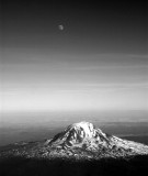 Mount Adams and the Moon, Cascade Mountains, Washington State 162