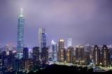 Taipei by night from Elephant Mountain (Xiangshan)