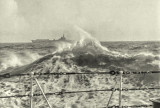 HMCS Magnificent in Stormy Seas
