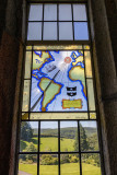 IMG_8211.CR3 Stained glass window sundial - Buckland Abbey - © A Santillo 2019