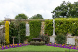 IMG_8371.CR3 The Pompeian Wall with ancient statues positioned in flower beds - Hever Castle - © A Santillo 2019