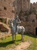 G10_1195.jpg Sculpture of Sir Hugh Calveley (1320-94) and his charger by Owen Cunningham - © A Santillo 2011