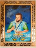 G10_1210-Edit.jpg Sir Walter Raleigh, painting by Ronnie Heeps - © A Santillo 2011