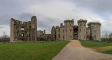 IMG_8110_8115-Pano.dng Ornate Gatehouse, Great Tower (on the left) and Closet Tower ( far right) - © A Santillo 2019