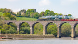 IMG_2940.CR2 Trematon Castle, Forder Viaduct and Steam Train from Forder Lake - © A Santillo 2011