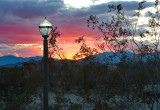Sunset and lamp post