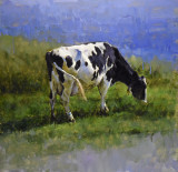 Cow by the Water 24 x 24
