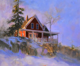 Red House, in Snow 16 x 20