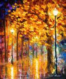 AUTUMN TREES — oil painting on canvas