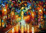 FAREWELL TO ANGER — PALETTE KNIFE Oil Painting On Canvas By Leonid Afremov