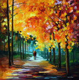 AUTUMN COLORS — oil painting on canvas