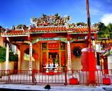 Chinese Temple on Walking Street -  Kanchanaburi