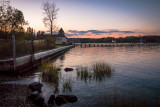 Coindre Hall Boat House Sunset