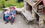 Sitting with Grandpa