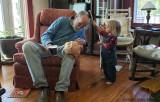 Brushing Grandpa's Hair