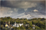 Portmeirion with Snowdon in the background