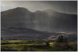 Rain shower over the Moelwyn range