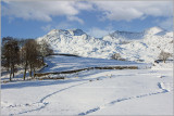 Moelwyn range in snow
