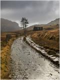 Cwmorthin track and Capel Rhosydd