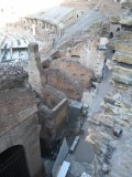 Inside Colosseum Upper level walkways to get to seats