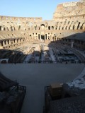 Inside Colosseum Partially covered arena floor with underground passages beneath