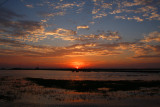 Sunset at the Bonnet Carre Spillway in Louisiana