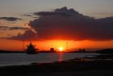 Mississippi River sunset on the last day of September