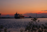 Night Falls on the Mississippi River