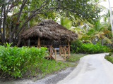 Massage Hut at the resort