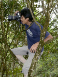 Photographer/author in tree