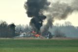 Brand in de polder