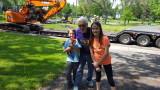 Birthday with grand kids, Savanna and Zach