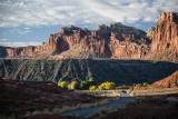 Late Day Shadows In Capitol Reef National Park, Utah