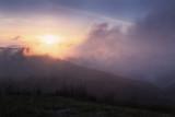 Black Balsam Sunset-Passing Fog