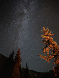 Light Painting The Milky Way With Our Campfire
