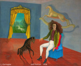 Paintings of two surrealist painters