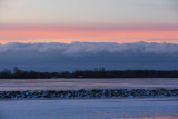 South shore of the Bay of Quinte under pastel skies