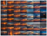 Contact sheet sunrise photos 2020 March 9
