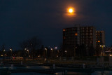 Moon above Belleville before sunrise 2020 March 9